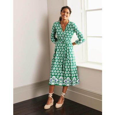 Delilah Jersey Midi Dress Green Women Boden, Green