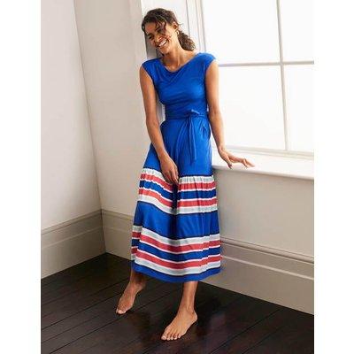 Eda Jersey Tiered Dress Blue Women Boden, Red