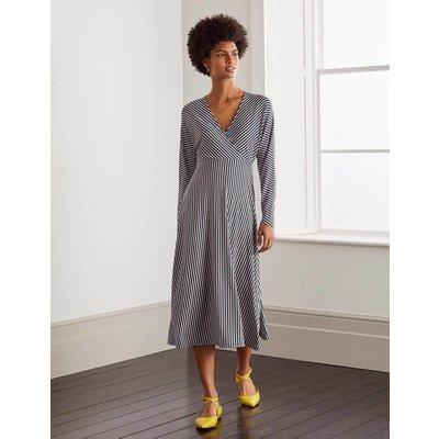 Gemma Jersey Dress Navy Boden, Ivory