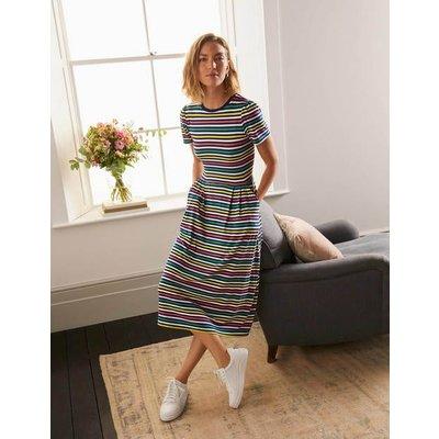 Lucinda Jersey Midi Dress Multistripe Boden, Multistripe
