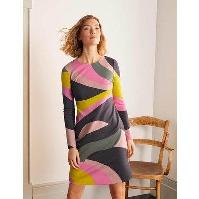 Isabella Ponte Shift Dress Asphalt, Groovy Wave Women Boden, Asphalt, Groovy Wave