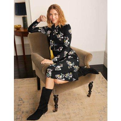 Maisie Ponte Midi Dress Black Women Boden, Black