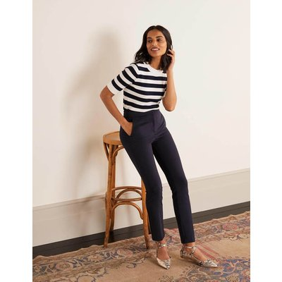 Hampshire Ponte 7/8 Trousers Navy Women Boden, Navy
