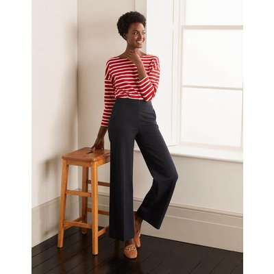 Hampshire Ponte Trousers Navy Women Boden, Navy