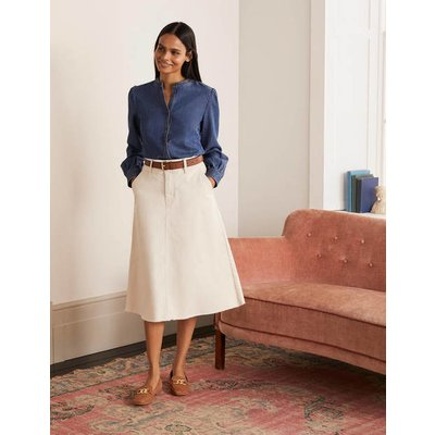 Effie Midi Skirt Ecru Women Boden, Ecru