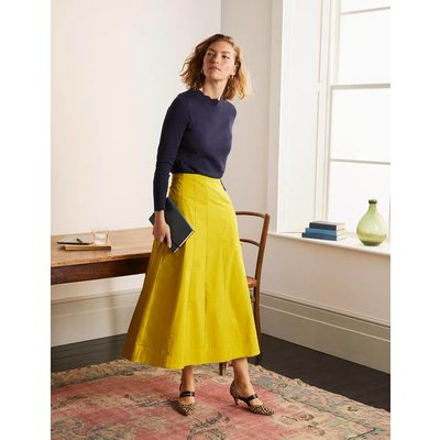 Marcia Midi Skirt Chartreuse Women Boden, Chartreuse