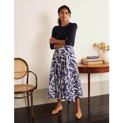 Corinne Full Skirt Blue Boden, Blue