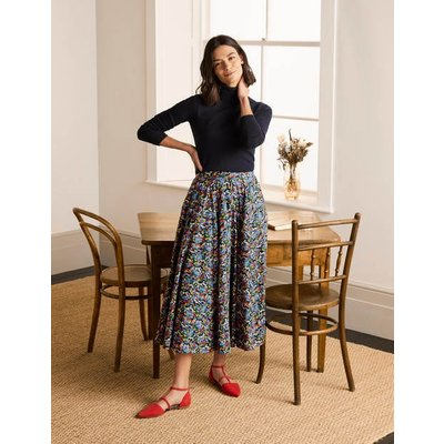 Corinne Full Skirt French Navy, Ditsy Field Women Boden, French Navy, Ditsy Field