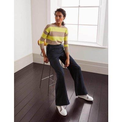 Eldon Linen Trousers Navy Women Boden, Navy