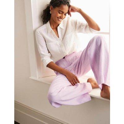 Eldon Linen Trousers Pink Women Boden, Pink