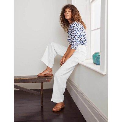 Eldon Linen Trousers White Women Boden, White
