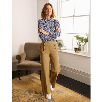 Runswick Sailor Trousers Brown Women Boden, Camel