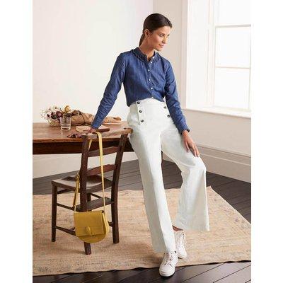 Runswick Sailor Trousers Ivory Women Boden, Ivory