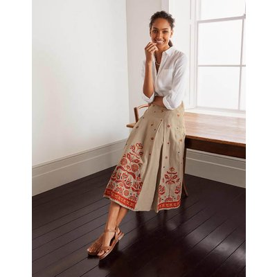 Cora Embroidered Linen Skirt Linen Women Boden, Linen
