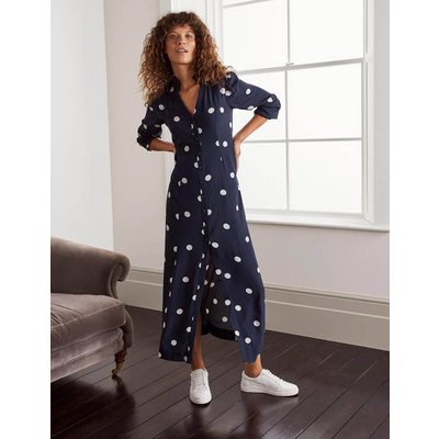 Rowan Midi Shirt Dress Navy Women Boden, Navy
