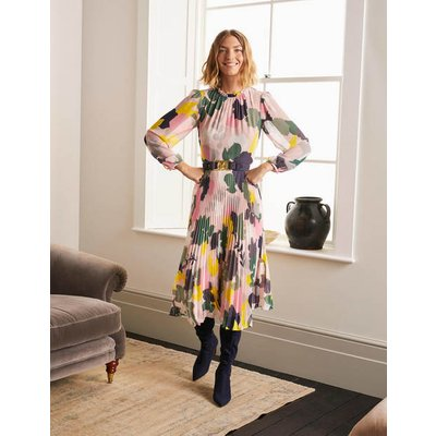 Josephine Midi Dress Milkshake, Pressed Bloom Large Women Boden, Milkshake, Pressed Bloom Large