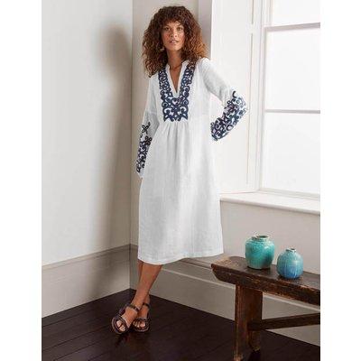 Leonie Linen Dress White Women Boden, White