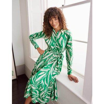 Kitty Midi Shirt Dress Green Boden, Green