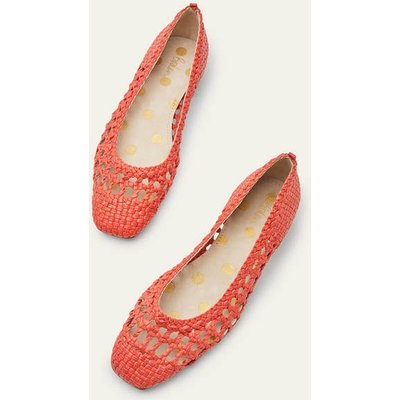 Olive Ballerinas Red Woven Women Boden, Red Woven