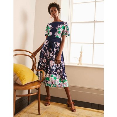 Rosemary Jersey Midi Dress Navy, Enchanted Garden Women Boden, Navy, Enchanted Garden