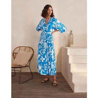 Poppy Jersey Maxi Dress Moroccan Blue, Garden Tropic Women Boden, Moroccan Blue, Garden Tropic