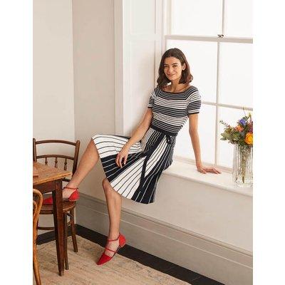 Aida Dress Ivory/Navy Stripe Women Boden, Ivory/Navy Stripe