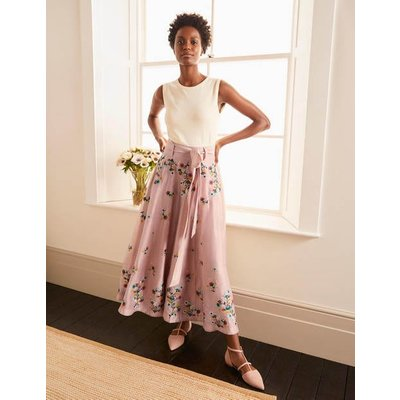 Cara Embroidered Skirt Milkshake Women Boden, Milkshake