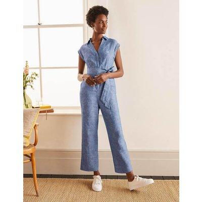 Catriona Linen Jumpsuit Authentic Blue - Chambray Women Boden, Authentic Blue - Chambray