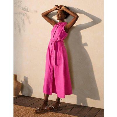 Kate Linen Shirt Dress Pop Pansy Women Boden, Pop Pansy