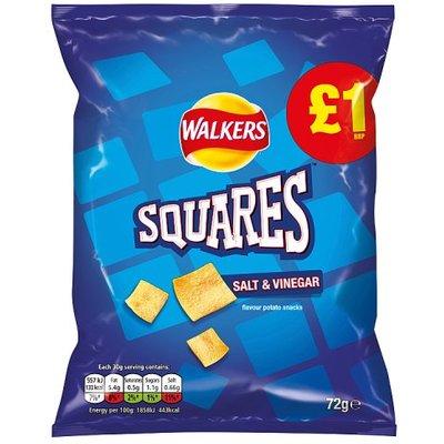 Walkers Squares Salt and Vinegar Share Bag