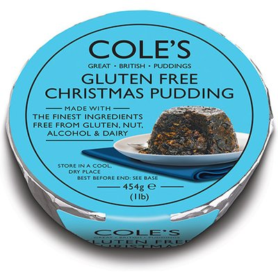 Coles Gluten Nut and Alcohol Free Christmas Pudding