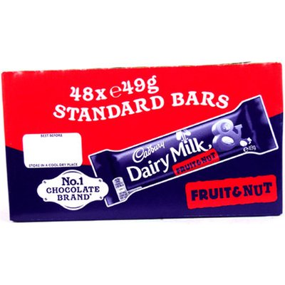Cadbury Dairy Milk Fruit & Nut - 48 x 49g