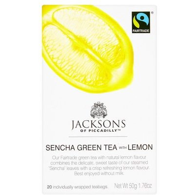 Jacksons of Piccadilly Green Tea & Lemon Fairtrade