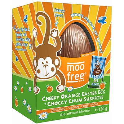 Moo Free Organic Cheeky Orange Easter Egg with Choccy Chum Surprise