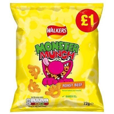 Monster Munch Roast Beef Share Bag
