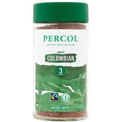 Percol Fairtrade Freeze Dried Colombia Coffee