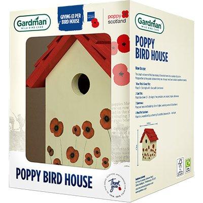 Royal British Legion Poppy Bird House