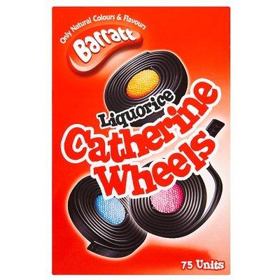 Barratt Liquorice Catherine Wheels Full Box 75 Sweets