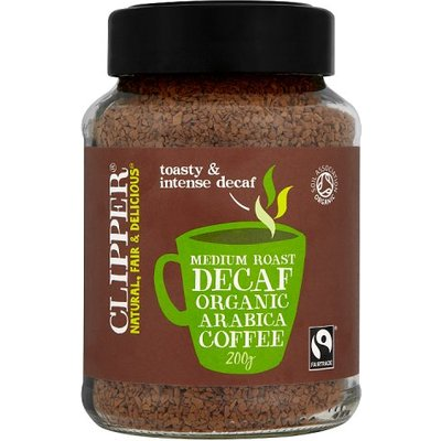 Clipper Organic Instant Decaffeinated Coffee Fairtrade 200g