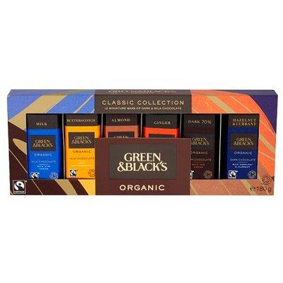 Green & Blacks Classic Collection 12 Miniature Bars