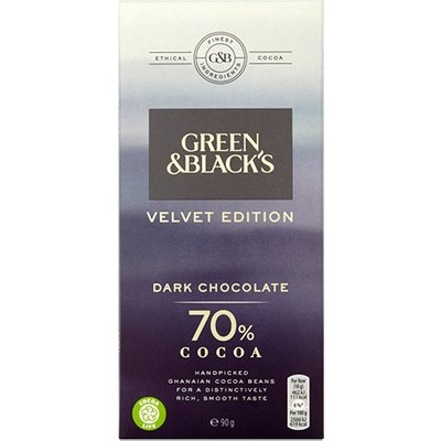Green and Blacks Organic Dark Chocolate 70%