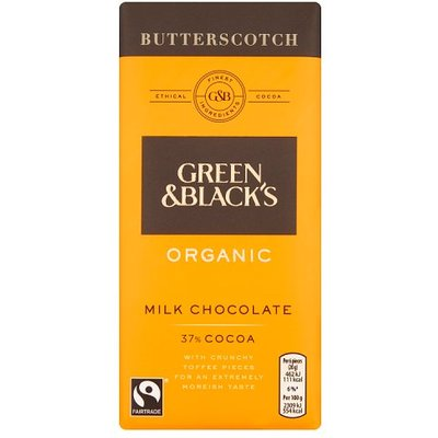 Green and Blacks Milk Butterscotch Bar
