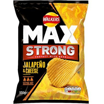 Walkers Max Strong Sharing Bag Jalapeno & Cheese Crisps