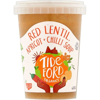 Tideford Organic Red Lentil Soup with Apricots and Crushed Chillies