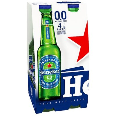 Heineken 0.0 Alcohol Free Beer 4 Pack