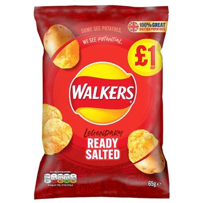 Walkers Ready Salted Crisps Share Bag