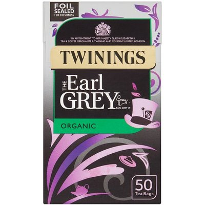 Twinings Earl Grey Organic Teabags 50 Pack