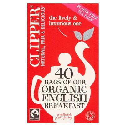 Clipper Fairtrade Organic English Breakfast Tea Bags 40 Pack