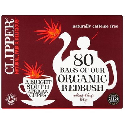 Clipper Organic Redbush Infusion Tea Bags 80 Pack