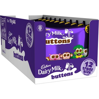 Cadbury Buttons Treatsize Minis 170g (Box of 12)